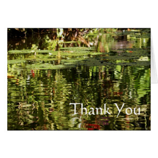 Thank You Card Water Lily Pond