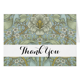 Thank you card william morris custom template