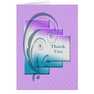 Thank you card with elegant rectangles