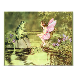 Thank You Card with Fairy and Frog Custom Announcements