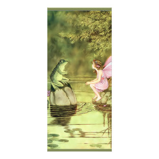 Thank You Card with Fairy and Frog Custom Rack Card
