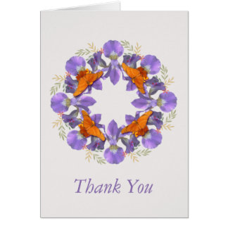 Thank you card with flower pattern