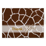 Thank You card, with giraffe