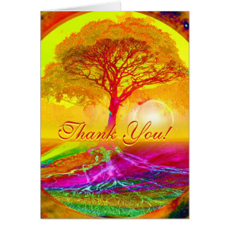 Thank You Card with Orange Sunset/ Sunrise