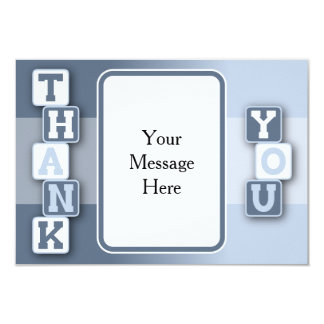 Thank You Card with Text Frame 9 Cm X 13 Cm Invitation Card