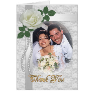 Thank you card with wedding photo