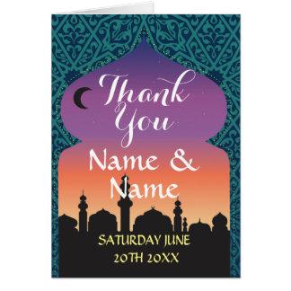 Thank You Cards Arabian Nights Wedding Moroccan