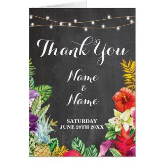 Thank You Cards Bridal Tropical Lights Wedding