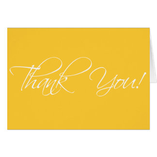 Thank You Cards Fancy Script Yellow