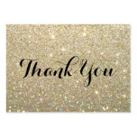 Thank You Cards - Gold Glit Fab Pack Of Chubby Business Cards