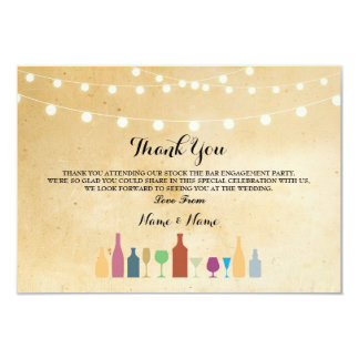 Thank You Cards Stock The Bar Lights Vintage