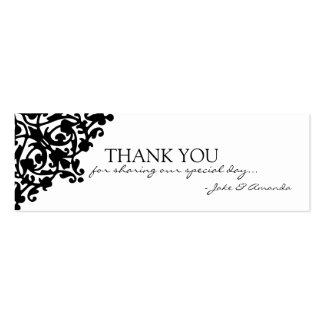 Thank You Cards | THANK YOU-whiteblack Pack Of Skinny Business Cards