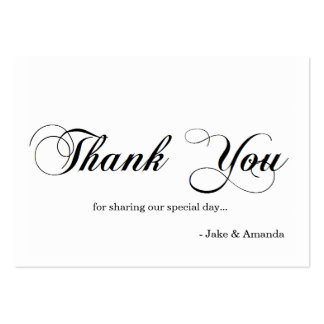 Thank You Cards   THANK YOU-whiteblack Pack Of Chubby Business Cards