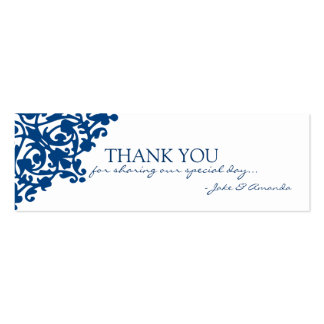 Thank You Cards | THANK YOU-whiteblue Pack Of Skinny Business Cards