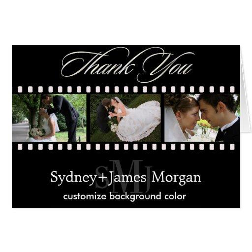 Thank You Cards, wedding photos+monogram