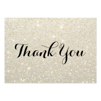 Thank You Cards - White Gold Glit Fab Pack Of Chubby Business Cards