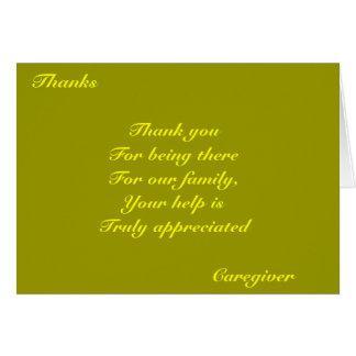 Thank you caregiver card