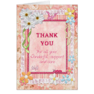 Thank you carer, flowers craft card