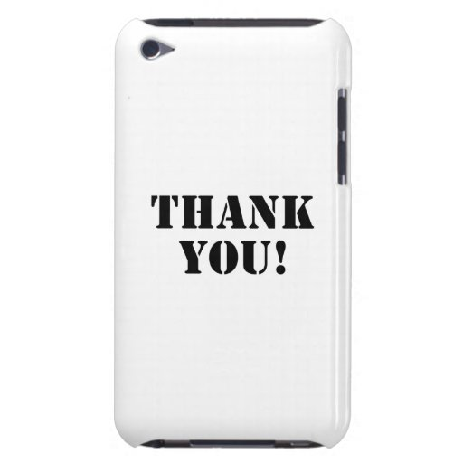 Thank You Case-Mate iPod Touch Case