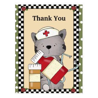 Thank You Cat Nurse Postcard