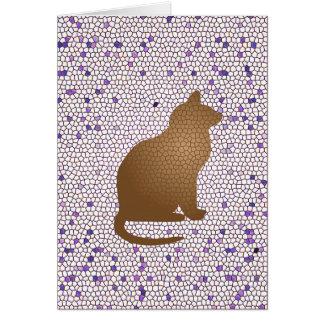 Thank You Cat Sitter Caregiver Mosaic Cat Card
