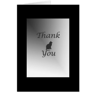 Thank You Cat Sitter with Black Frame Card