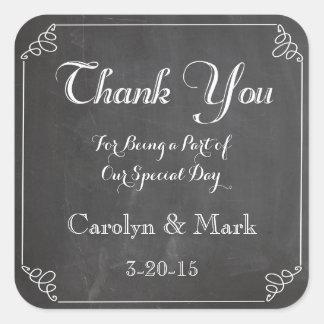 Thank You, Chalkboard Vintage Wedding Favor Labels