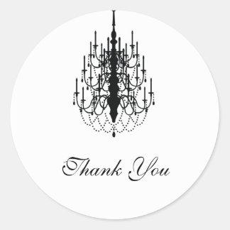 thank you chandelier seal round sticker