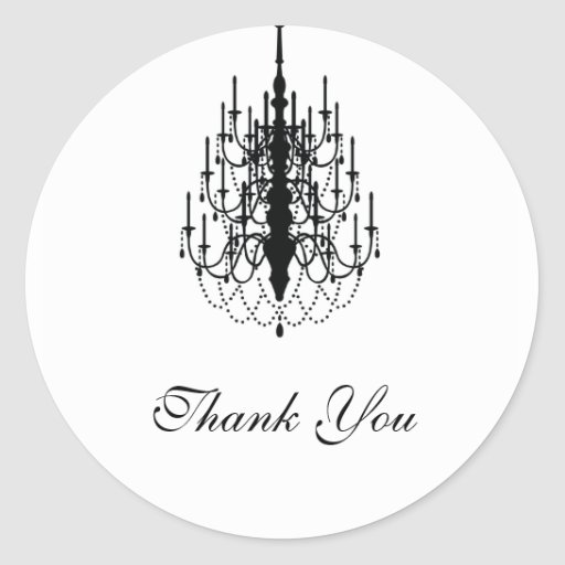 thank you chandelier seal sticker