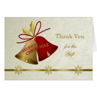 Thank You Christmas bells Card
