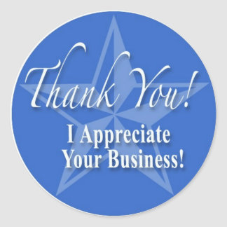 Thank You! Classic Round Sticker