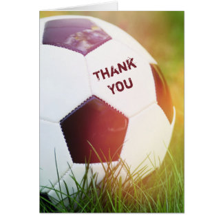 Thank You Classic Soccer Ball Greeting Card