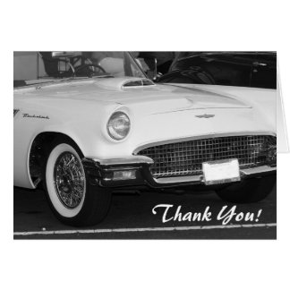 Thank You Classic White T-bird greeting card