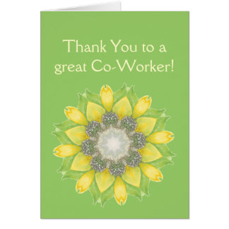 Thank You Co-Worker Custom Flower Garden Floral Card