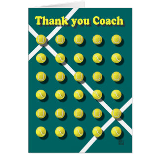 Thank you Coach personalized Card