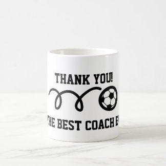 Thank you coach soccer ball coffee mug