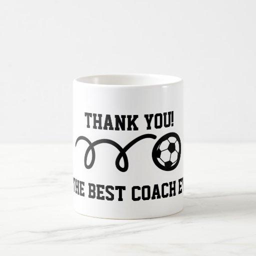 Thank you coach | soccer ball coffee mug