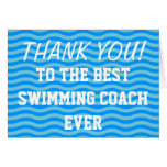Thank you coach | swim greeting cards