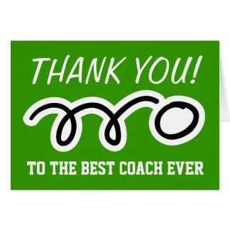 Thank you coach | table tennis greeting cards