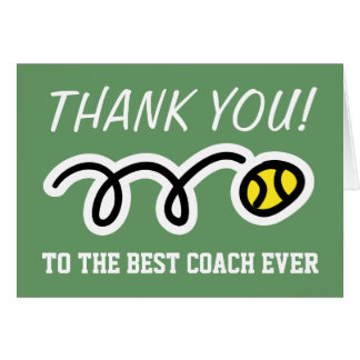 Thank you coach | tennis greeting cards