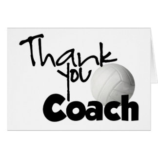Thank You Coach, Volleyball Card
