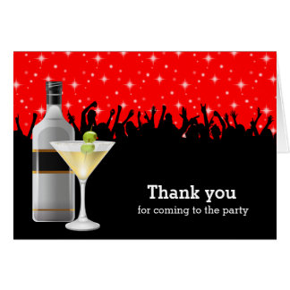 Thank you Cocktail party Card