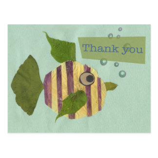 Thank You Collage Fish Postcard