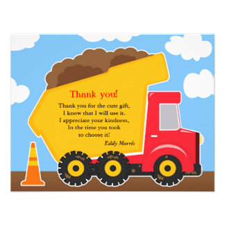 Thank You Construction Card Invites
