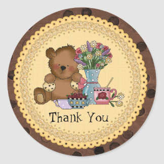 Thank You Cookie Bear sticker