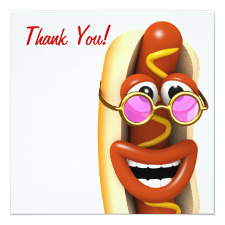 Thank You! Cool Hippy Hot Dog Card