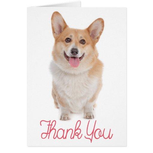 5 Pembroke Welsh Corgi Thank You Cards w 5 Bonus Seals ...  Thank You Cute Corgi Puppy