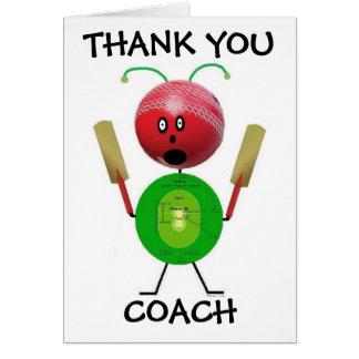 Thank You Curling Coach Card
