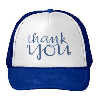 Thank You Cursive blue Hat