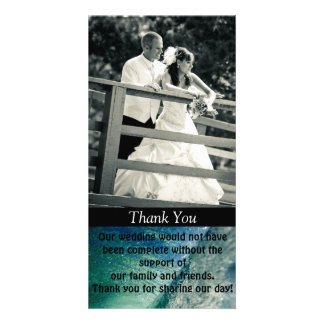 Thank you Custom Photo Wedding Card
